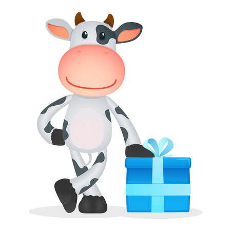 żartować: zabawna kreskówka krowa