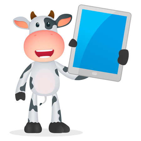 funny cartoon cow Stock Vector - 11250766