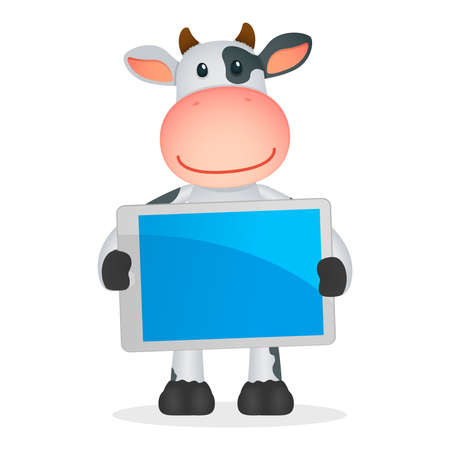 touch sensitive: funny cartoon cow Illustration