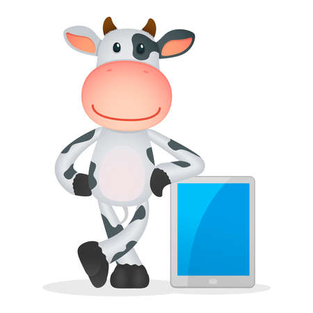 funny cartoon cow Stock Vector - 11250777