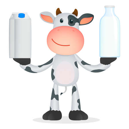 cow: funny cartoon cow Illustration