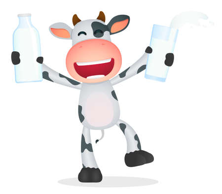 cow illustration: funny cartoon cow Illustration