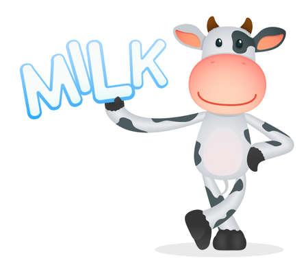 cow farm: divertente cartone animato mucca Vettoriali