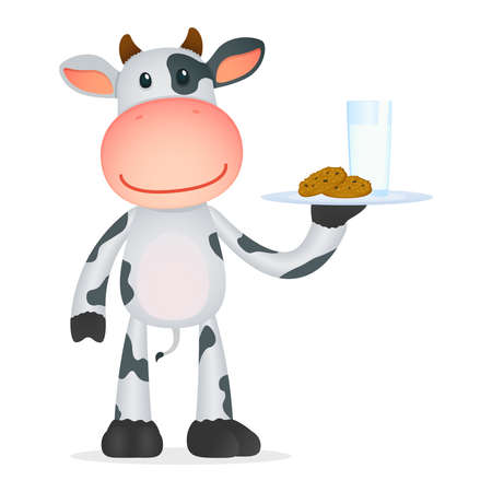 organic fluid: funny cartoon cow Illustration