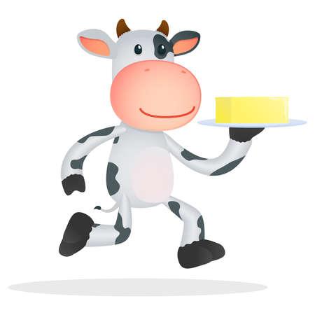vacas lecheras: la vaca divertida caricatura