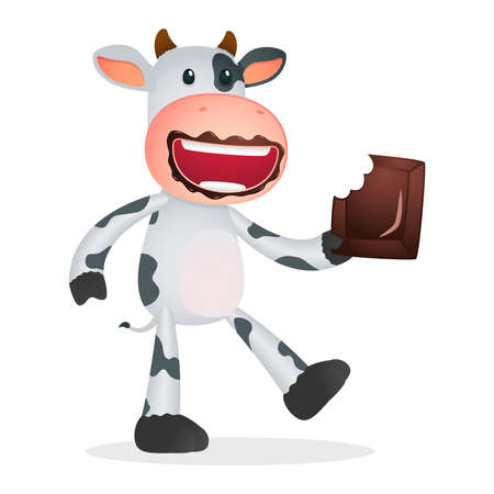 cute chocolate: funny cartoon cow Illustration