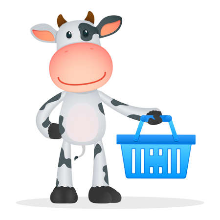 retail equipment: funny cartoon cow Illustration