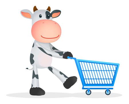funny cartoon cow Stock Vector - 11250775