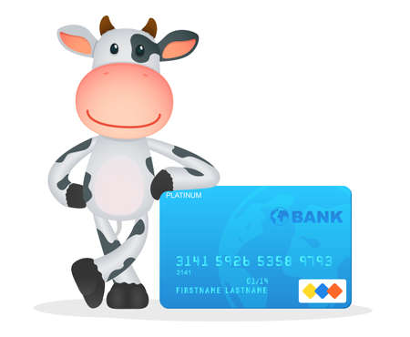 cash crop: funny cartoon cow Illustration