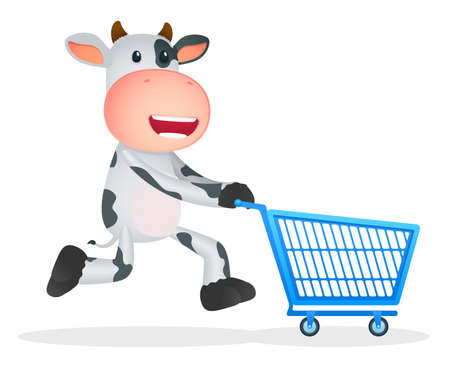 e shop: funny cartoon cow Illustration