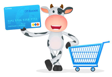 funny pictures: funny cartoon cow Illustration