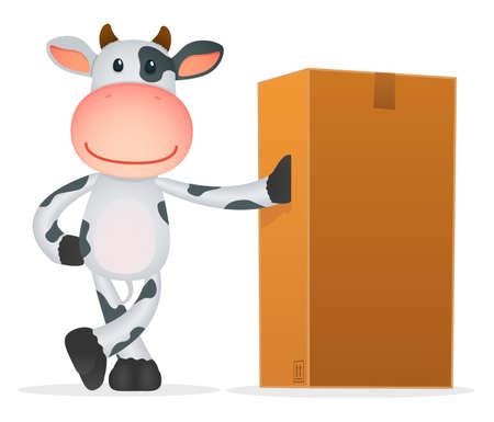funny cartoon cow Stock Vector - 11250752