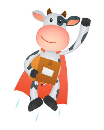 depository: funny cartoon cow Illustration