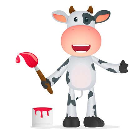 horned: vaca divertidos dibujos animados