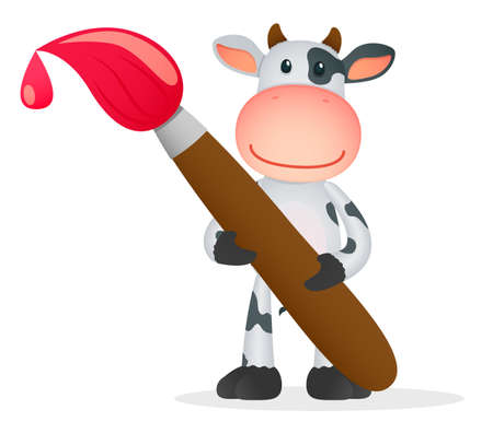 funny cartoon cow Stock Vector - 11250763