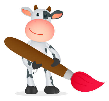 funny cartoon cow Stock Vector - 11250744