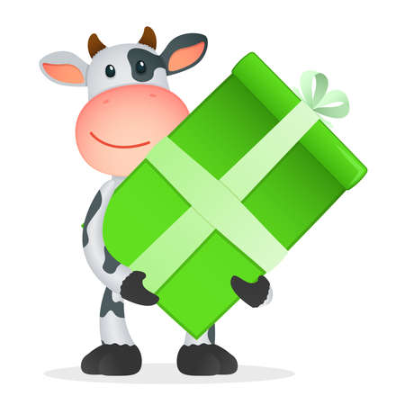 funny cartoon cow Stock Vector - 11250800