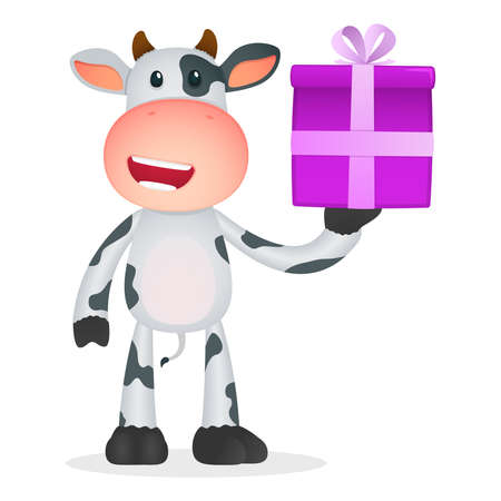 funny cartoon cow Stock Vector - 11250801