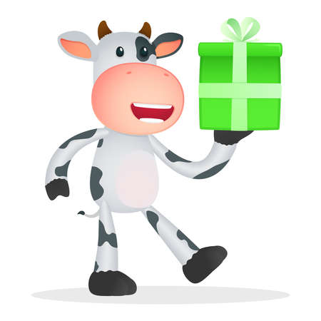 funny cartoon cow Stock Vector - 11250802
