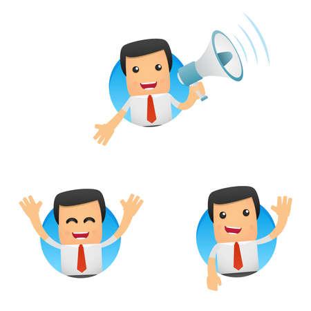 hombre caricatura: conjunto de gerente de divertidos dibujos animados