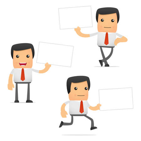 set of funny cartoon manager Stock Vector - 11250836
