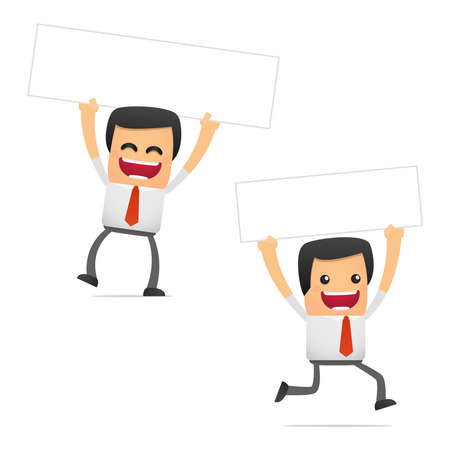 set of funny cartoon manager Stock Vector - 11250833