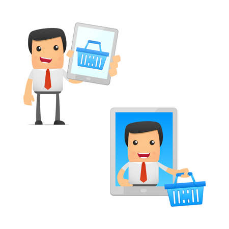 set of funny cartoon manager Stock Vector - 11250864