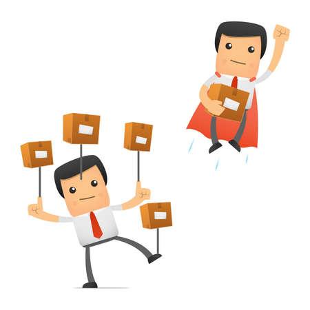 caricaturas de personas: conjunto de gerente de divertidos dibujos animados