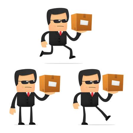 depository: set of funny cartoon security