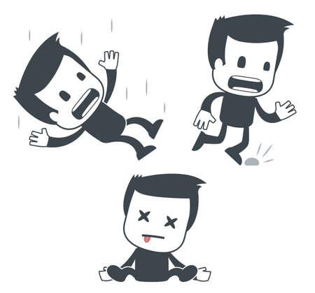 hombre cayendo: Icono del hombre
