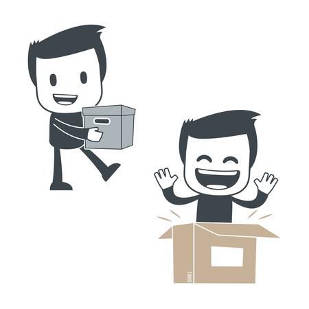 delivery man: Icon man