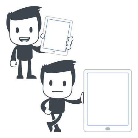 mobil phone: Icon man