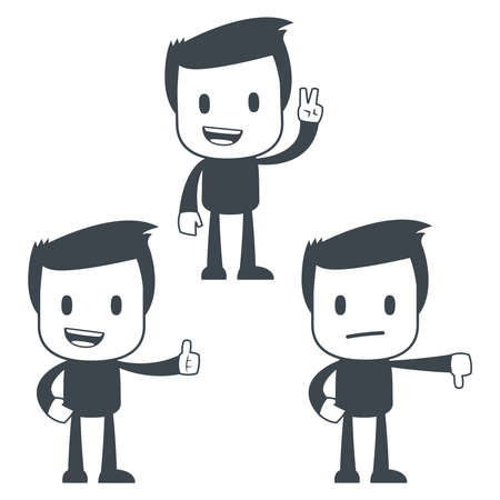 thumbs down: Icon man