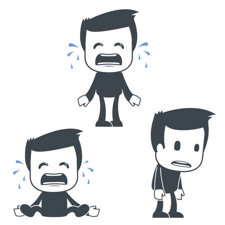 enfant qui pleure: Ic�ne homme