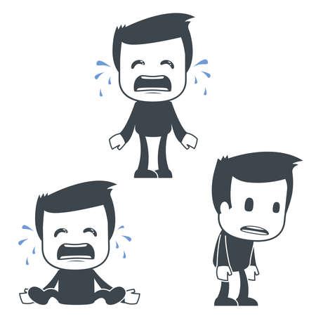ni�o llorando: Icono del hombre