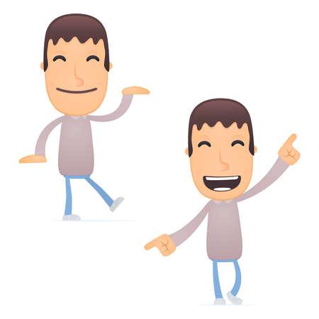 baile caricatura: chico divertido de la historieta