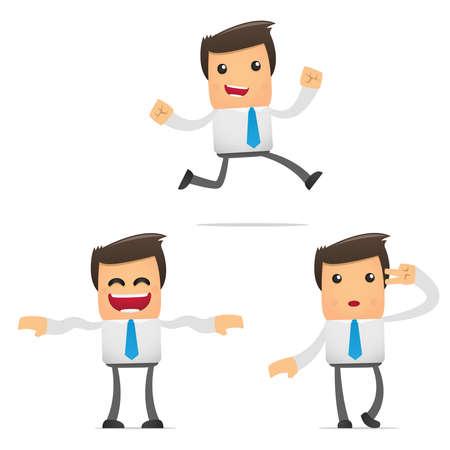 employ� heureux: ensemble de gestionnaire dr�le de bande dessin�e