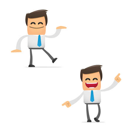 baile caricatura: conjunto de gerente de divertidos dibujos animados
