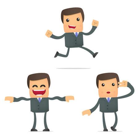 baile caricatura: conjunto de negocios divertidos dibujos animados