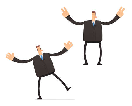 set of funny cartoon businessman Stock Vector - 11651423