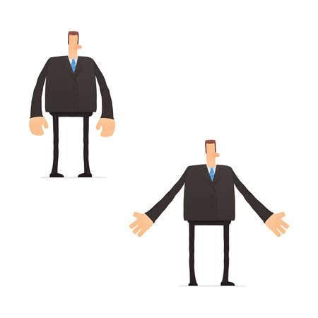 cranky: set of funny cartoon businessman