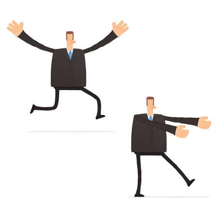 hypnose: set of funny cartoon businessman