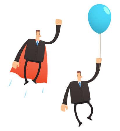 inflar: conjunto de negocios divertidos dibujos animados