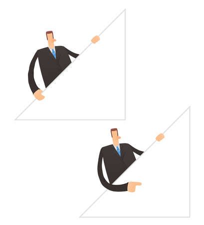 set of funny cartoon businessman Stock Vector - 11651408