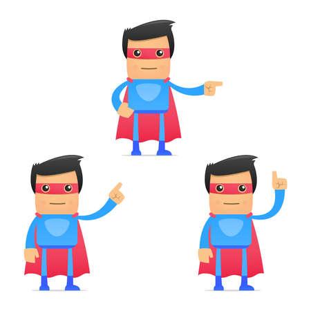 set of funny cartoon superhero Stock Vector - 11651471