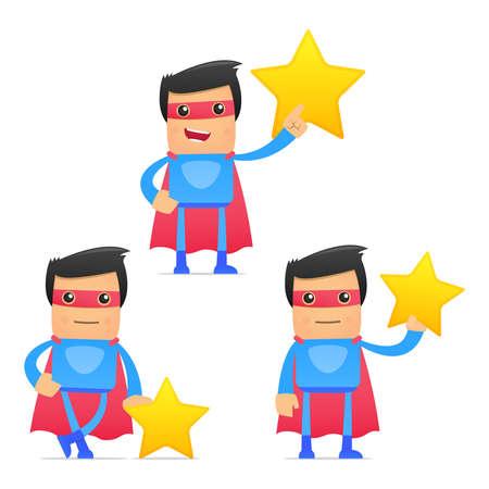 reward: set of funny cartoon superhero