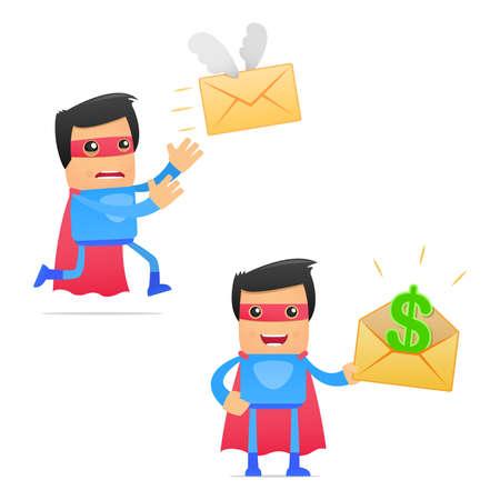 valiant: set of funny cartoon superhero