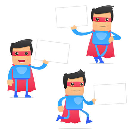 set of funny cartoon superhero Stock Vector - 11651507