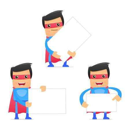 set of funny cartoon superhero Stock Vector - 11651502