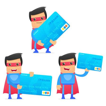 set of funny cartoon superhero Stock Vector - 11651557